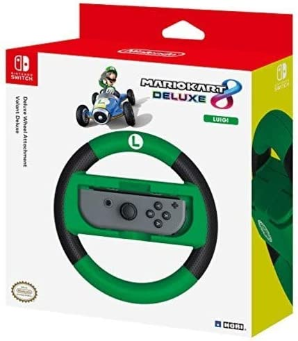 HORI Nintendo Switch Mario Kart 8 Deluxe Wheel Luigi Version Officially Licensed By Nintendo product image