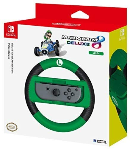 HORI - Nintendo Switch Mario Kart 8 Deluxe Wheel Attachment Luigi Edition (Nintendo Switch)