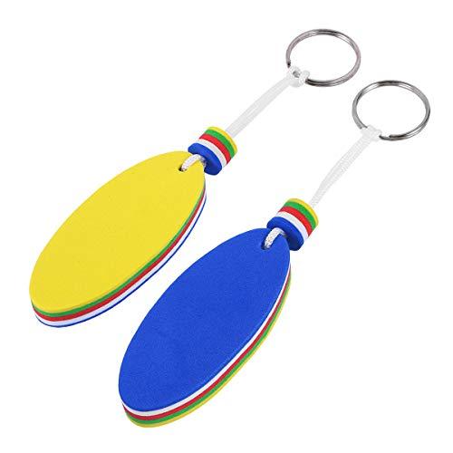 BESTONZON 2 STÜCKE Kajak Kanu Schwimm Schlüsselanhänger Schlüsselbund Schlüsselanhänger Halter für Marine Boot Angeln Segeln Wassersport (Oval)