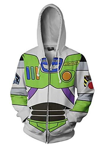 Unisex Toy Story Hoodie Woody Buzz Lightyear Cosplay Kostüm Pullover Tasche Sweatshirt Kinder - mehrfarbig - Groß