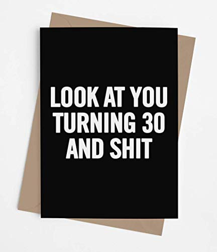 Funny 30th Birthday Card for men or women with envelope | Joke card for someone who is turning 30 years old | Original and unique present idea for son, daughter.