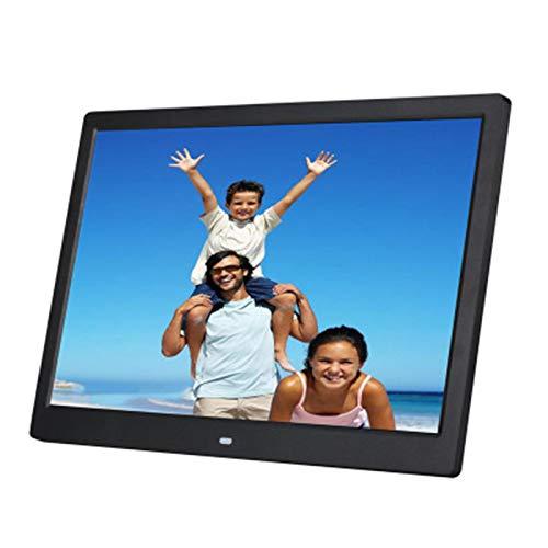 LLSL Marco de Imagen Digital WiFi, con Pantalla de rotación automática/Pantalla táctil HD / 15.4 Pulgadas LCD Frame de Fotos Digitales Compartir Momentos instantáneamente a través de,Negro