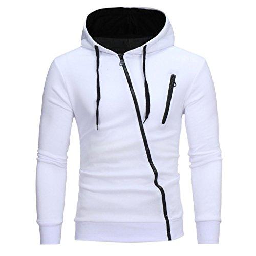 Beauty Top Felpa con Cappuccio Uomo, 2017 Hooded Sweatshirt Manica Lunga Hoodie Cappotto Giacca Pullover Felpe Top Outwear (M, Bianca)