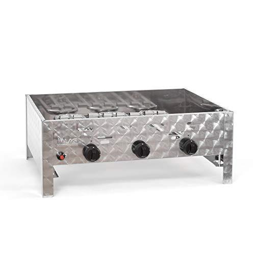 Korpus 11 kW Gehäuse Rahmen Bräter 3-flammig Gasgrill Grill Gastrobräter Profigrill Verein