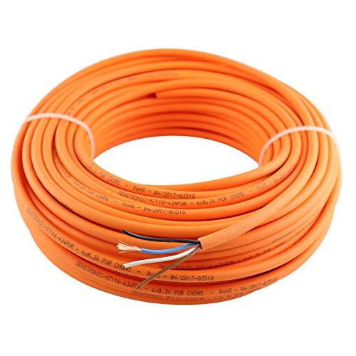 WITTKOWARE PUR-Sensorleitung, 4x0,34mm², orange, 25m Ring