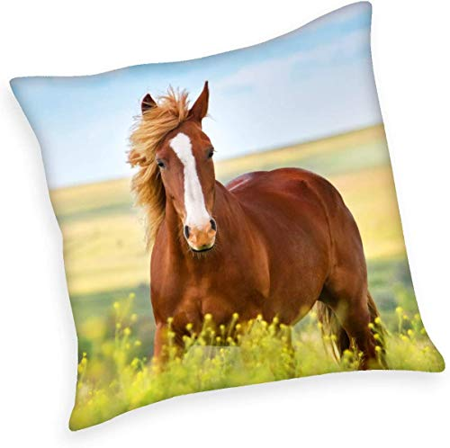 Herding YOUNG COLLECTION Dekokissen, Pferde Wendemotiv, 40 x 40 cm, Polyester