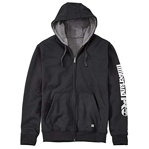 Timberland PRO Men's A1HVC Hood Honcho Full-Zip Sweatshirt - Large - Jet Black