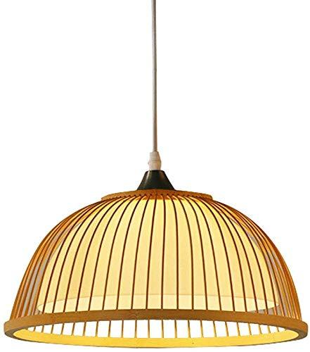 Beautiful Home Decoration lampen Turno E27 hanglamp slaapkamer bamboe en hout industriële vaas design hanglamp eetkamer hanglamp binnenverlichting licht Φ35 * H15 cm 1-