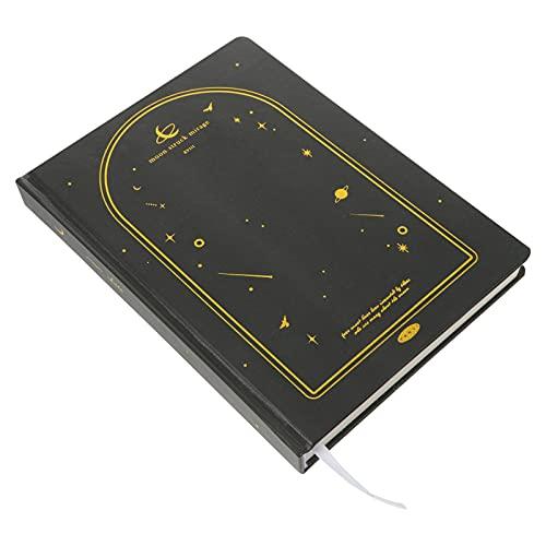 Yardwe Cuaderno de Star Moon Cuaderno de Diario Fresco Creativo Libro de Mano Practicle Ledger Adorable Agenda Bloc de Notas de Dura para El Hogar de La Oficina de La Escuela
