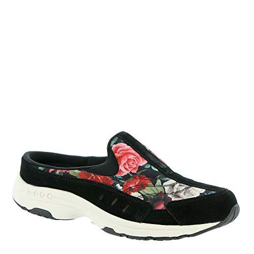 Easy Spirit Travel Time Women's Slip On 9 B(M) US Black-Floral
