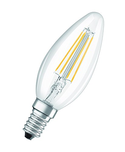 OSRAM Lot de 10 Ampoules LED | Culot E14 | Blanc chaud | 2700 K | 4 W équivalent 40 W | clair | LED Retrofit | Forme flamme