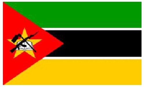 Mozambique Nationale Vlag 5ft x 3ft