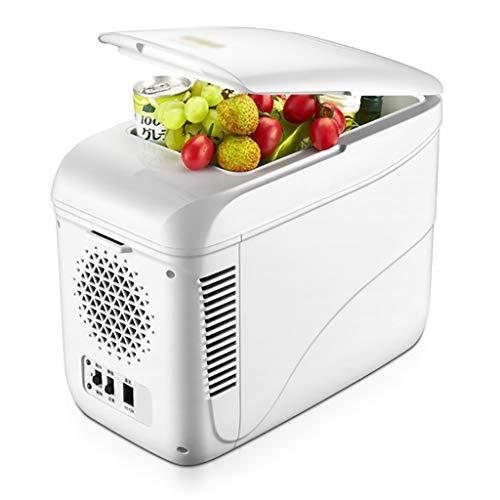 YANN 2021 Mini refrigerador de actualización: Enfriador de Autos portátiles y Calentador 12V / 220V - para Bebidas, Cerveza, Vino, mariscos, Frutas, hogar y Viajes (Color : White)