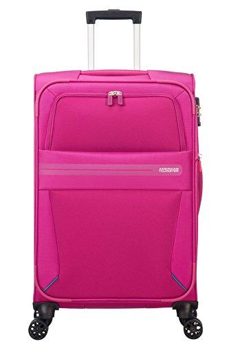 American Tourister Summer Voyager Spinner Erweiterbar, 3.3 kg Koffer, 68 cm, 67.5 L, Deep Pink