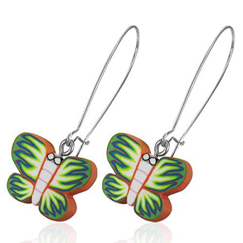 INOKI – Pendientes FIMO mariposas Eliette