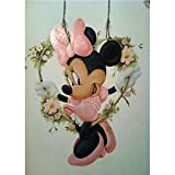 Kit de pintura de diamante 5D para adultos, kit de pintura por números para manualidades de Mickey Mouse de punto de cruz decoración del hogar para salas de estar dormitorios 5D Rhinestone Art 30x40cm