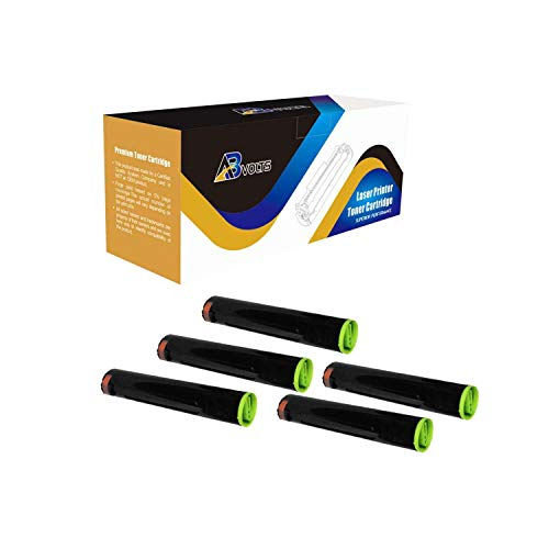 AB Volts Compatible Toner Cartridge Replacement for Panasonic DQ-TU15E for Workio DP 2310 2330 3010 3030 (Black,5-Pack)
