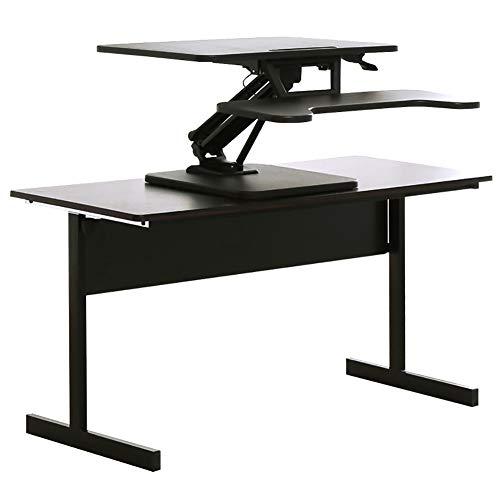 Permanent Bureau Converter, Zwart 11-51Cm Hoogte Verstelbare Elektrische Lift Zitten Om Laptop Computer Desk Table Riser Stand Met Toetsenbord Deck Voor Thuiskantoor Dual Monitor (80 * 40Cm)