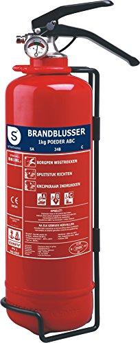 Extintor de incendios Smartwares BB1NL – Polvo – 1 kg – Clase incendio ABC – Incluye soporte de montaje