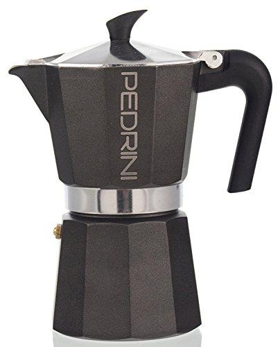 """Pedrini: """"Aroma Nero"""" Coffee Maker 2-Cups BLACK [ Italian Import ]"""