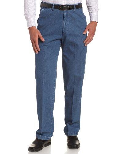 Haggar Men's Big-Tall Work To Weekend No Iron Denim Plain Front Pant ,Cadet Blue,60x30