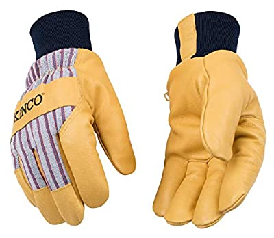 Kinco Youth 1927KW Lined Grain Leather Palm with Knit Wrist Glove