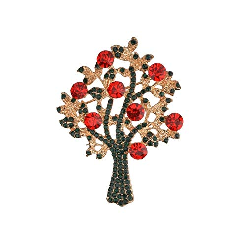 HMYDZ Heißen kreative Weihnachtsmann Weihnachtsbaum Socken Hut-Socken-Strass Broschen for Frauen-Geschenk (Color : Tree)