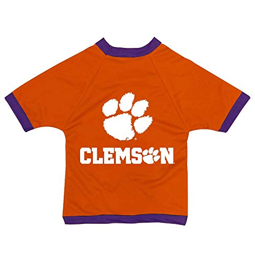 NCAA Clemson Tigers Athletic Mesh Dog Jersey (Team Color, XX-Small)