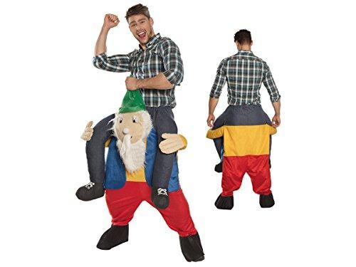 Alsino Zwerg trägt Mann Huckepack Kostüm JGA Karnevalskostüm Fasching