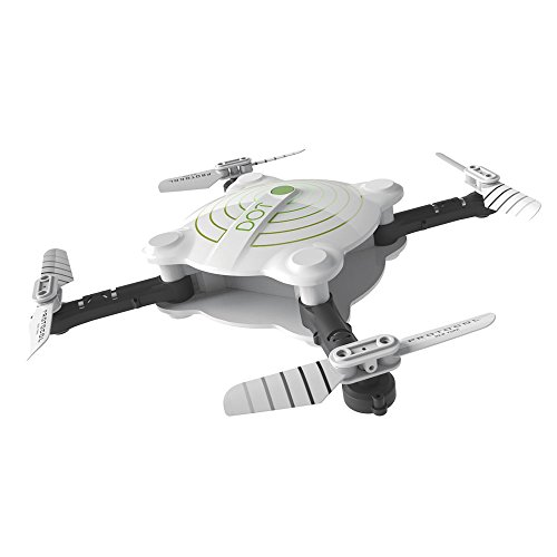 Protocol Drone - DOT VR Wi-Fi Drone with Camera - Folding Drone with Wi-Fi, Live Stream Capability -Auto Launch, Hover, and Land - 4-Way 360° Flips - 480p Camera Drone
