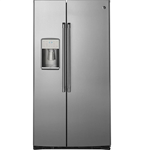Price comparison product image GE CZS22MSKSS Cafe 22.1 Cu. Ft. Stainless Steel Counter Depth Side-By-Side Refrigerator