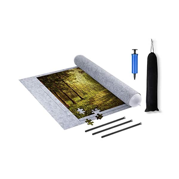 Jigsaw Puzzle Mat Roll up, (Puzzle is not Included) Puzzles pad, Rollable Storage Keeper Felt Mats, Saver Store 1500 1000 500 Pieces, Environmental Friendly Material