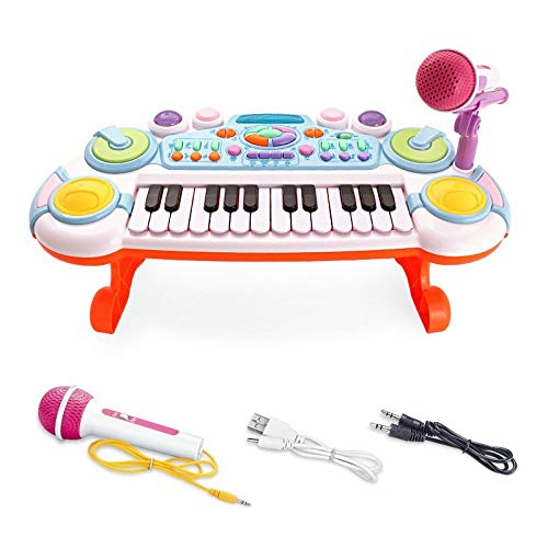 Why Choose Music Electronic Keyboard, Rechargeable Multi-function With Microphone, Early Childhood E...