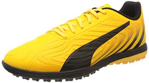 PUMA ONE 20.4 TT Herren Fußballschuhe, Gelb (Ultra Yellow Black-Orange Alert), 44 EU