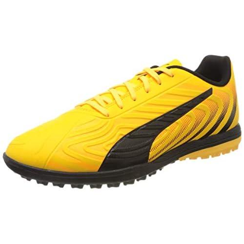PUMA One 20.4 TT, Scarpe da Calcio Uomo, Giallo (Ultra Yellow Black-Orange Alert), 40.5 EU