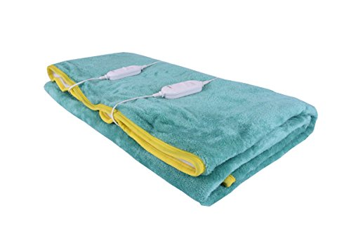 WarmLand Polycotton 50 TC Electric Bed Warmer (Double_Green)