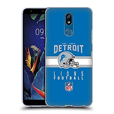 Head Case Designs Officially Licensed by NFL Helmet Typography 2018/19 Detroit Lions Soft Gel Case Compatible with LG K40 / K12 Plus