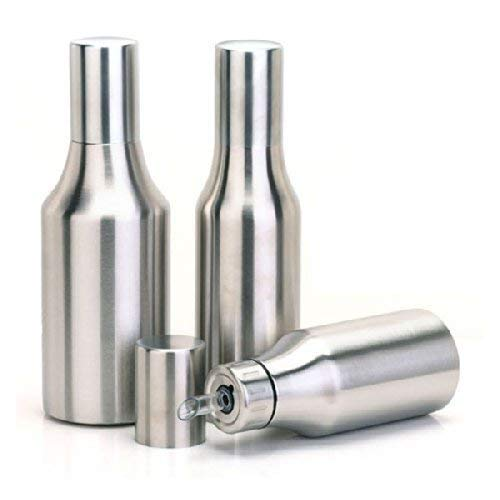 veera e Stainless Steel Oil Dispenser 1000ml, Oil Pot, Oil Can, Oil Kitchen Container of 1 Litre (Silver, Pack of 1)