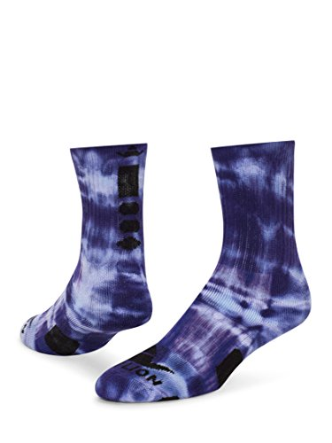 Red Lion Maxim Tie Dye Athletic Socks (Purple/White - Large)