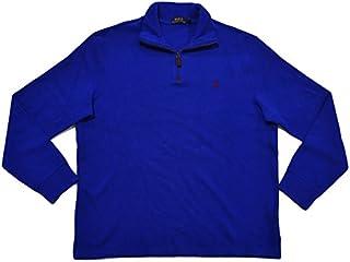 Polo Ralph Lauren Mens French Rib Quarter Zip Mock Neck...