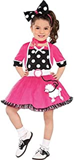 amscan Rockin' 50s | Doo Wop Darling Costume | Toddler