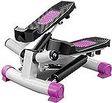 Übung Stepper 2 in 1, Up-Down-Stepper, tragbaren Mini-Trainingsgeräte, Beine Arm mit Multifunktionsdisplay Startseite Stepper mit Widerstand-Band