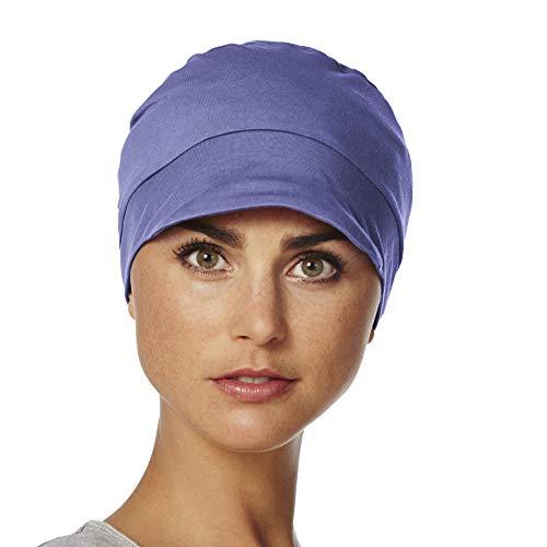 Viva Headwear Gorro básico de Calidad para quimioterapia 100% algodón (Molli/Azul Celeste)