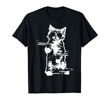 Gun Kitty Funny Cat T-Shirt