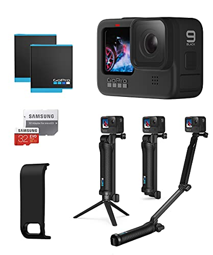 【GoPro公式限定】GoPro HERO9 Black + 3-Way + 予備バッテリー + 認定SDカード + サイドドア 【国内正規品】