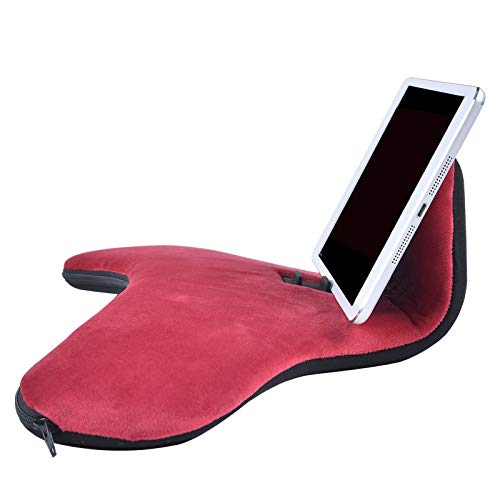 Vaorwne Laptop Holder Tablet PAD Multifunction Laptop Cooling Pad Tablet Stand Holder Stand Lap Rest Cushion for Red
