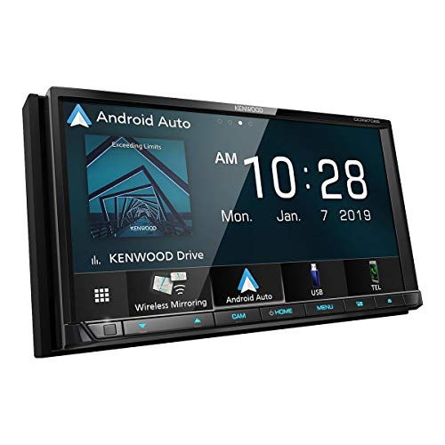 6.95-Inch Double-DIN In-Dash WVGA DVD Receiver with Bluetooth, Wi-Fi, Apple CarPlay, Android Auto and SiriusXM Ready