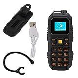 電話| BM60ミリタリーイヤーマウントバーフォンミニヘッドセット携帯電話サポートNanoSIMカード、高齢者、学生、多言語対応、32MB + 32MB0.66インチ。(ブラック)