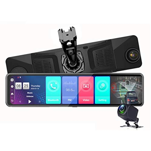 ShiZhen 2021 Upgrade 12 inch Full Screen 4G Touch IPS Special Bracket Car Dash Cam Rear View Android 8.1 Mirror RAM4GB ROM32GB with WiFi GPS Navi Bluetooth Music Dual Lens FHD 1080P
