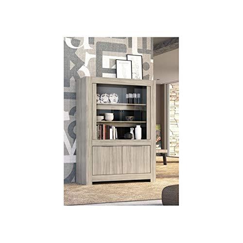 Azura Home Design - Biblioteca de 2 puertas de cristal con 2...